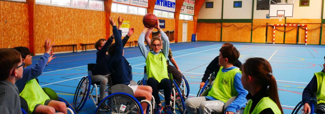 Image d'illustration pour Tous pareils malgré nos différences : initiation au handisport au collège Choisy de Saint Malo